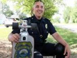 'Skateboard Cop' turns heads, bridges gap between communty, cops