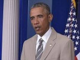 Obama rules out bombing ISIS anytime soon